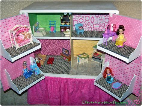 diy doll house furniture diy dollhouse from repurposed furniture clever housewife