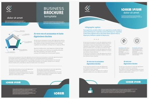 one sided brochure template best professional templates