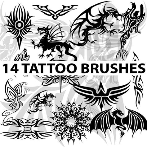 tattoo photoshop brushes 14 high res tattoo brushes for photoshop by brushportal on