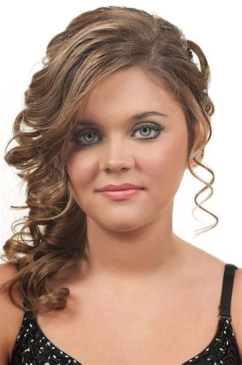 elegant hairstyles with bangs prom updo curly hairstyles with side bangs for ruond face