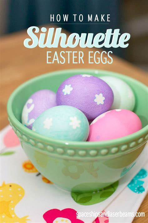 how to make silhouette easter eggs the easy way
