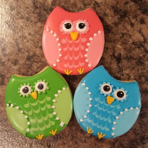 Owl Icing Decorations by 25 B 228 Sta Owl Cookies Id 233 Erna P 229 Dekorerade