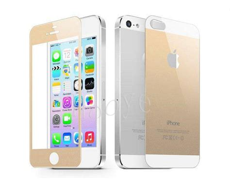 iphone   golden tempered glass original colored