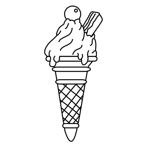 empty ice cream cone coloring page ice cream cone coloring pages drawing empty ice cream