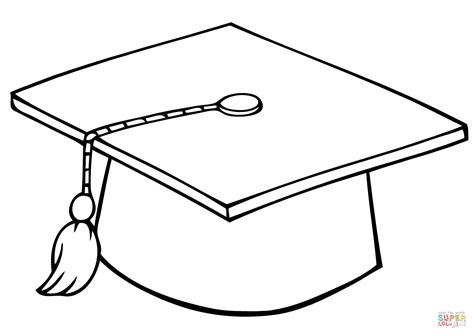 graduate cap coloring page  printable coloring pages
