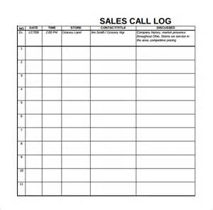 Sales Log Sheet Template by Sales Log Template 6 Free Documents In Pdf Excel