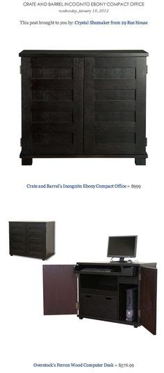 crate and barrel computer desk my s what a way to hide the