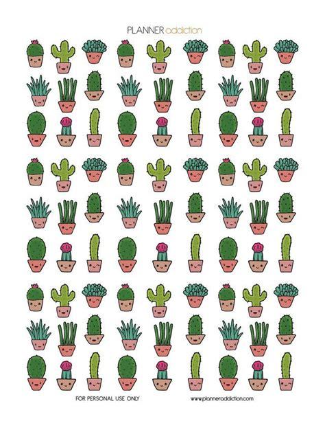 imagenes kawaii pdf kawaii cactus planner addiction imagenes kawaii