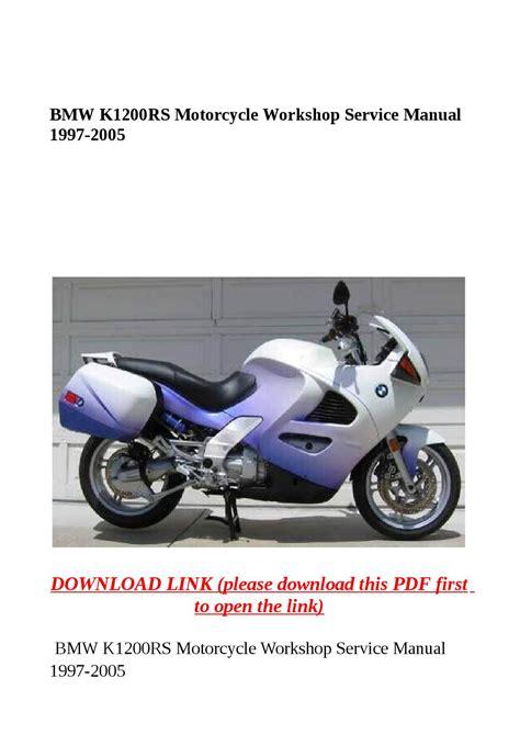 Bmw K1200rs Motorcycle Workshop Service Manual 1997 2005