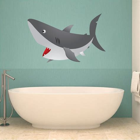 Shark Bathroom Decals Shark Wall Mural Decal F Wall Decal