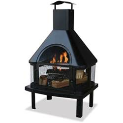 Chimney Firepit Pit Large Wood Burning Backyard Bbq Firepit Outdoor Chimney Fireplace Patio Ebay