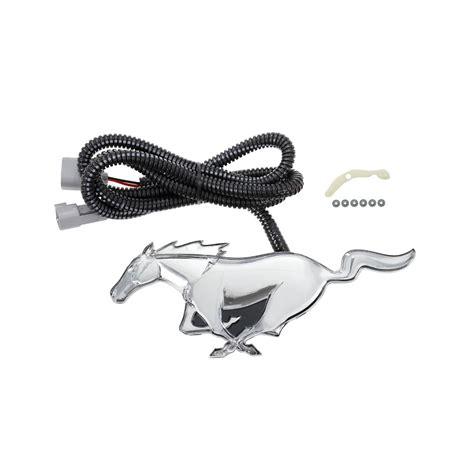mustang light up pony emblem ford vfr3z 8a224 a mustang pony emblem front grille light