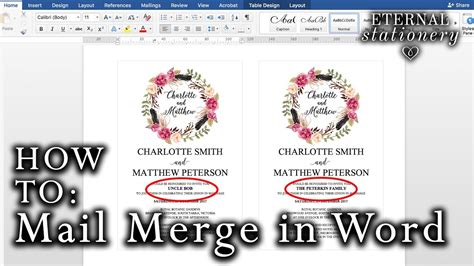 Wedding Invitation Using Mail Merge by How To Mail Merge Names On Wedding Invitations