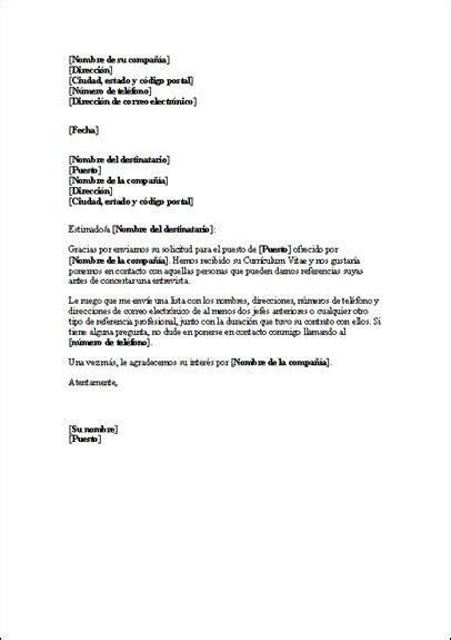modelos de cartas modelos de cartas de solicitud carta solicitud referencias