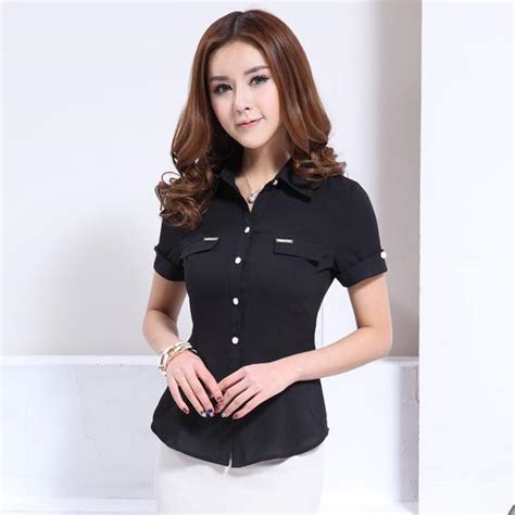 New Moline Blouse Black new 2015 summer fashion black shirt blouses sleeve ol work clohes tops