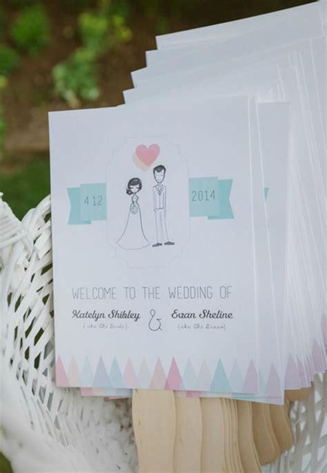 paper fan wedding programs 15 non traditional wedding programs paper fans wedding