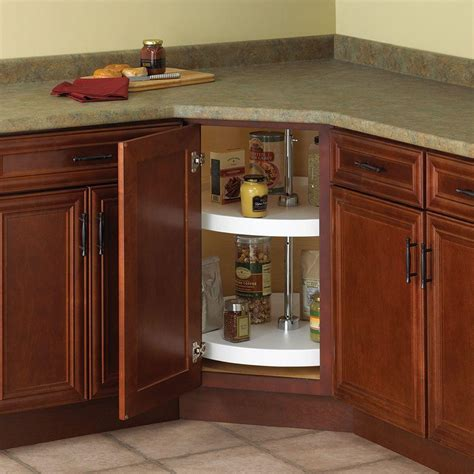 lazy susan organizer for kitchen cabinets knape vogt 32 in h x 24 in w x 24 in d 2 shelf full