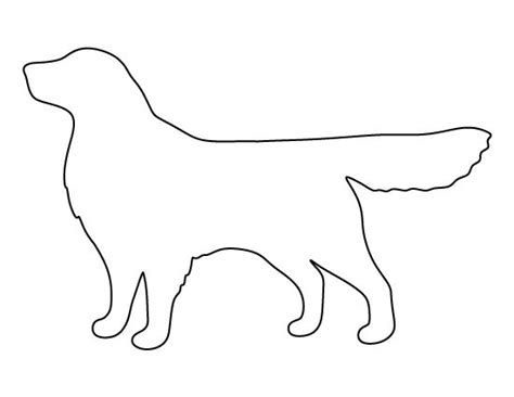 golden retriever outline crafts the o jays and patterns on