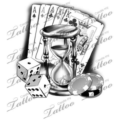 gambler tattoo designs marketplace hourglass 12500 createmytattoo