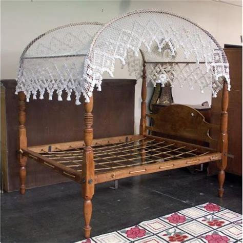 canopy bed covers colonial style pine rope canopy bed knotted cover