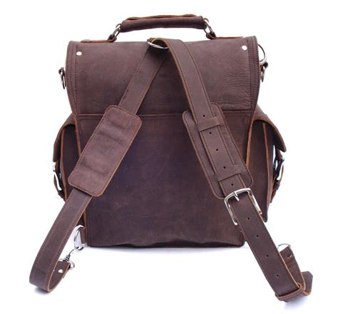 rugged leather messenger bag vintage rugged leather backpack messenger bag briefcase satchel laptop new ebay