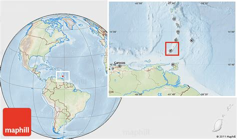 where is grenada located on a world map physical location map of grenada lighten