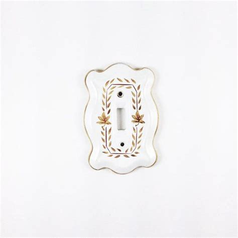 white porcelain light switch covers white and gold vintage porcelain light switch plate
