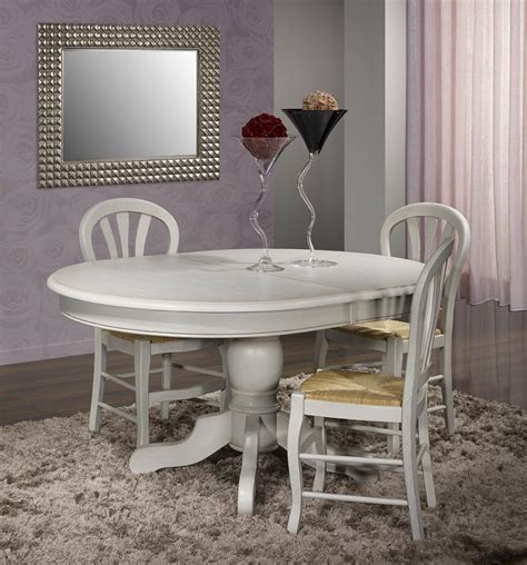 Table Ovale Pied Central