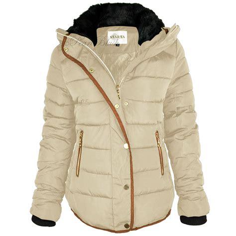 Jaket Winter Winter Coat Jaket Parka 58 womens quilted winter coat puffer fur collar hooded jacket parka size ebay