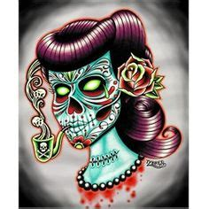 gorgeous gothic pin up zombie girl tattoo ideas blood