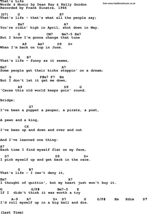 lyrics frank sinatra song lyrics with guitar chords for that s frank