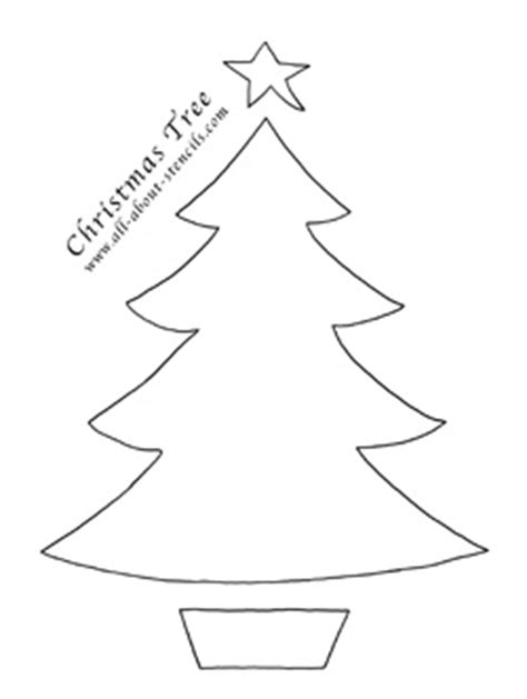 christmas tree stencil printable free stencils to print for arts and crafts