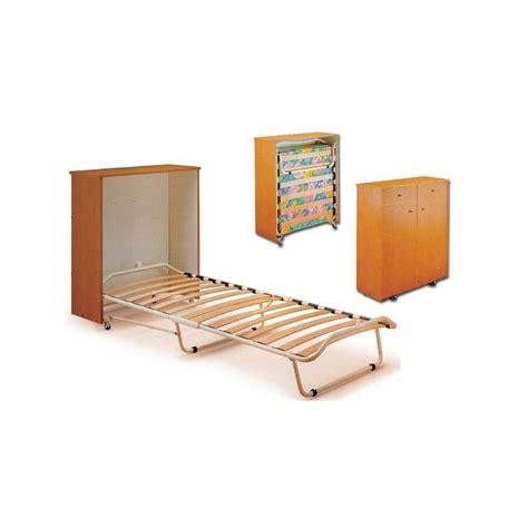 letto singolo con materasso letto pieghevole a scomparsa con mobiletto e materasso singolo