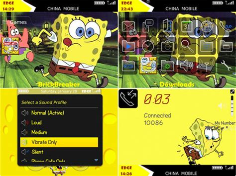 themes spongebob blackberry spongebob squarepants 9700 themes free blackberry themes