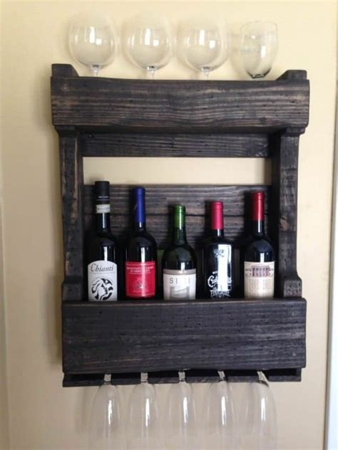 How To Hang Pallet Wine Rack by Pallets Wall Wine Rack Pallet Ideas Glasses Built Ins And Wine Racks
