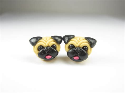 pug jewelry pug stud post earrings pug jewelry pug earrings