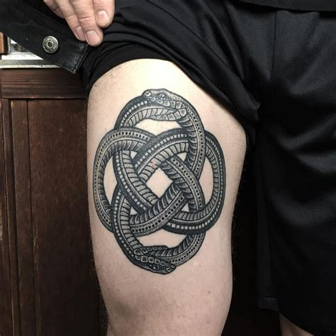 60 mythical ouroboros tattoo ideas what goes around