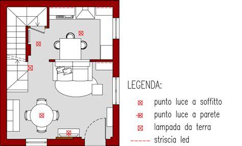 punti luce soggiorno progetto 25 mq architettura a domicilio 174