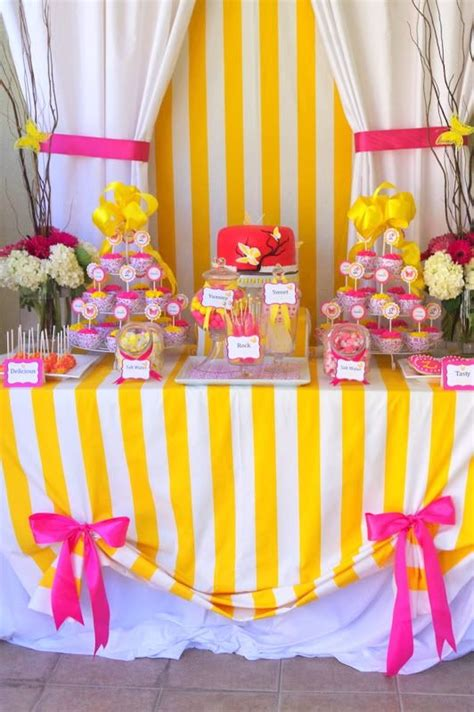 Pink And Yellow Birthday Decorations by Pink And Yellow Butterfly Theme Ideas