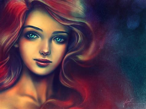 painting for princess ariel disney princess fan 30631860 fanpop