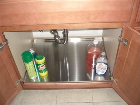 kitchen sink cabinet tray protect your sink base cabinet with trays contemporary