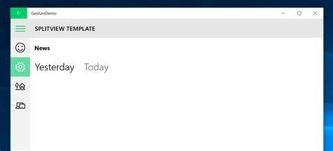 Split Level Style User Interface Windows 10 App Splitview Or Pivot