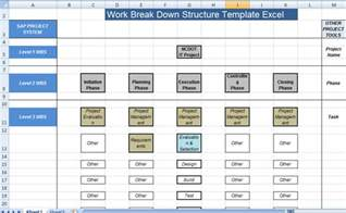 Wbs Template by Work Breakdown Structure Template Excel Microsoft Excel