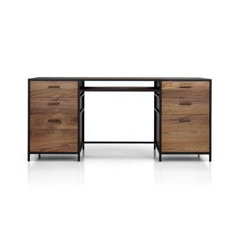 Black Frame Wooden Large Desk Large Wood Desk