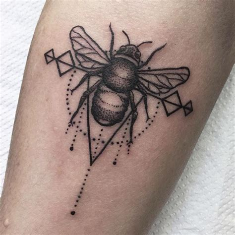 geometric insect tattoo cute geometric style bee on an inspirational lady