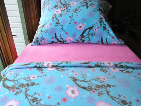 cherry blossom bedding girls bed set toddler fleece bedding flowering cherry