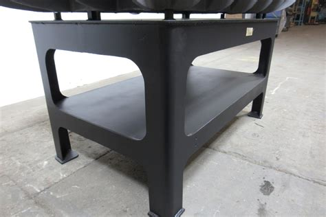 welded bench vintage cast iron layout inspection welding work table