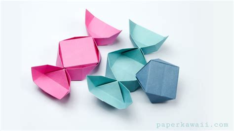 origami box easy origami box with lid easy www imgkid