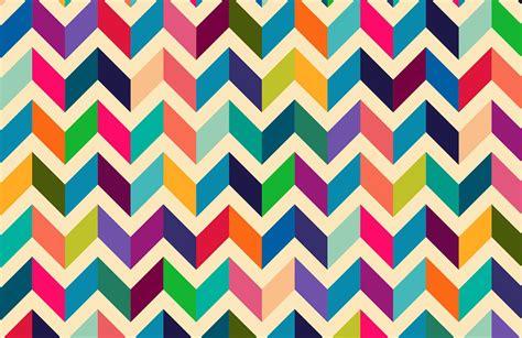 multicoloured zig zag pattern wall mural muralswallpaper