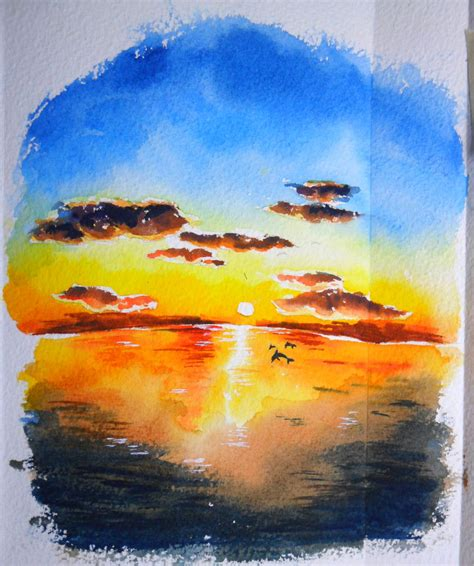 water color sunset sunset watercolor by icecream80810 on deviantart